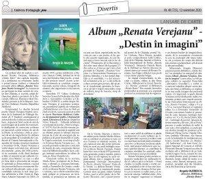 Renata Verejanu, Album, Destin în imagini, Moldova, UNESCO